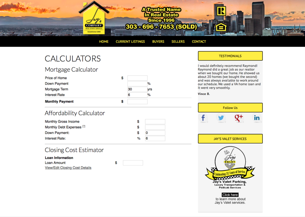 Denver real estate calculators